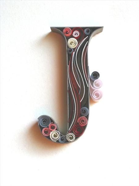 paper-quilling-letter-J Quilling Letter J Template on
