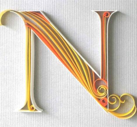 quilling-letters