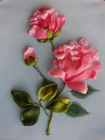 Silk ribbon flower embroidery designs for beginners life chilli ribbon flower tutorial ribbon flower tutorial mightylinksfo