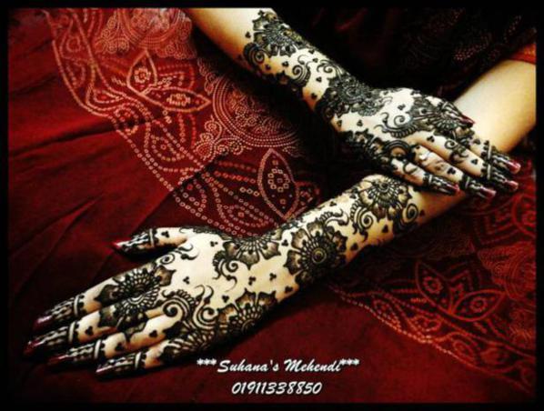 Arabic Mehndi Patterns S : Latest bridal mehndi designs for hands by suhana
