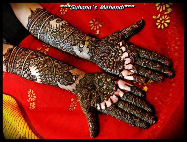 Latest Bridal Mehndi Designs For Hands By Suhana