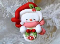 polymer-clay-snowman
