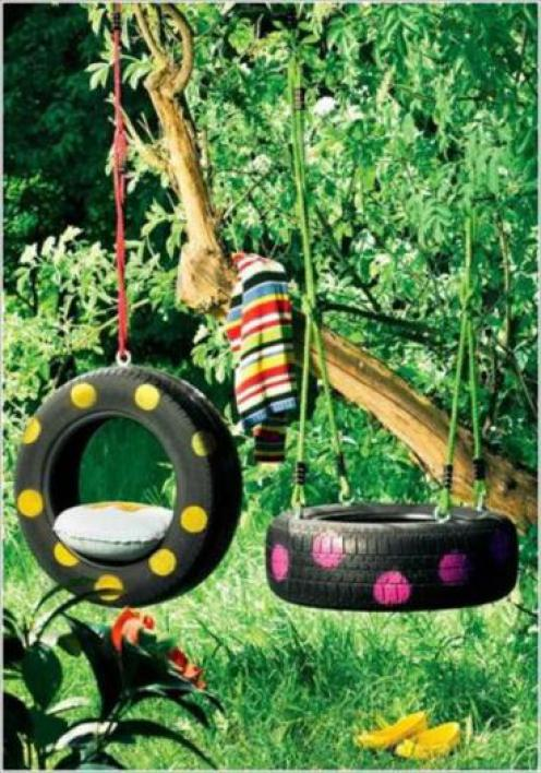 used-tire-swing