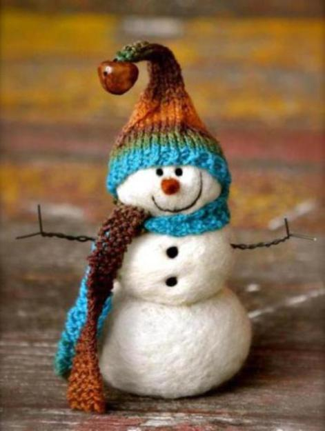 felted-snowman