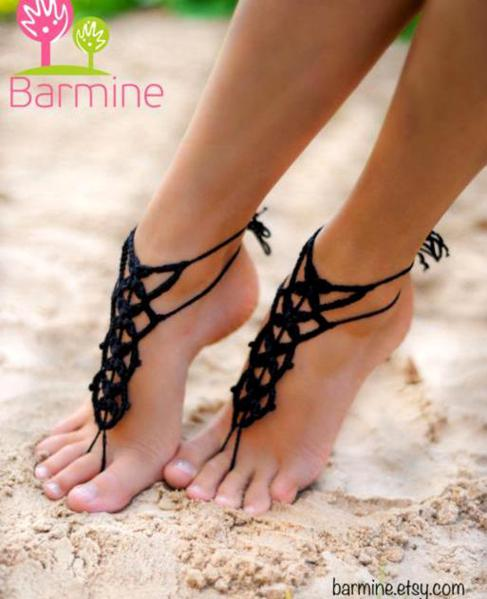 Crochet-sandal-designs