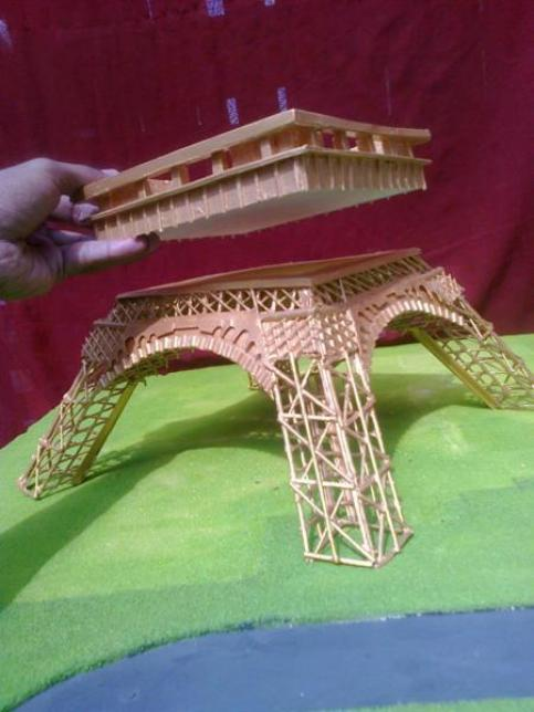 Diy Eiffel Tower Using Coconut Sticks By Md Umer Life Chilli