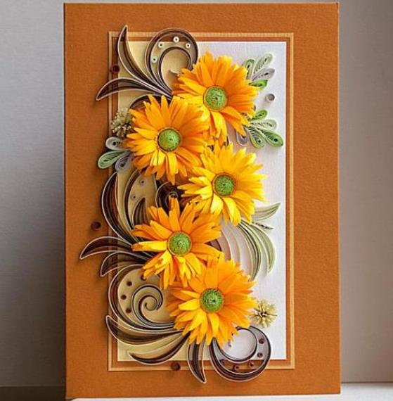 Paper quilling cards ideas by angel life chilli paper quilling cards m4hsunfo