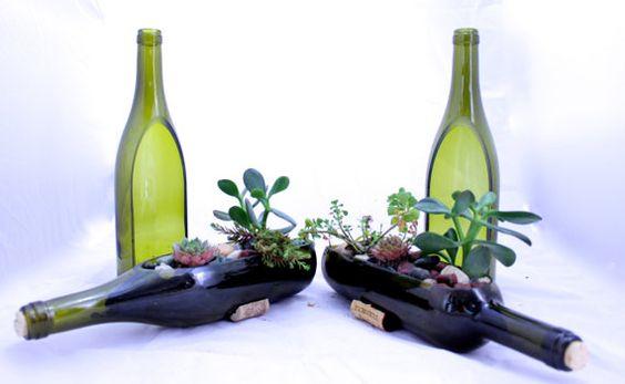 DIY Wine Bottle Succulent Planter Tutorial