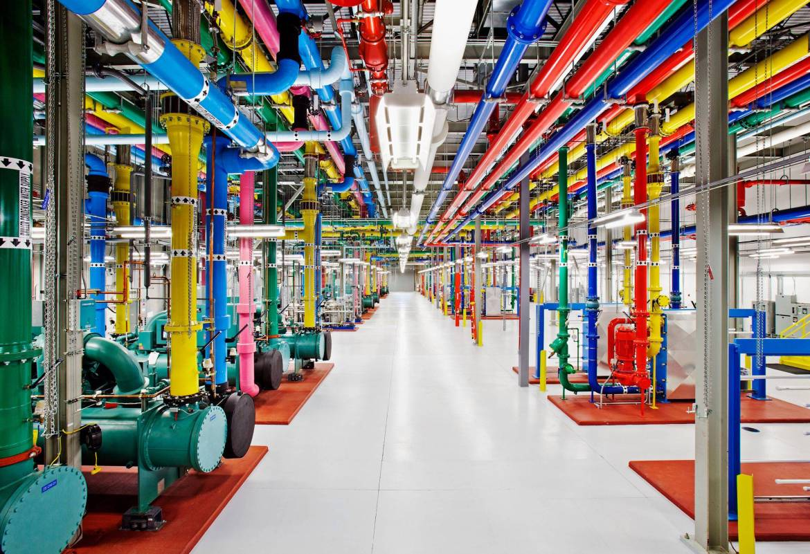 6. An inside view of one of Google's data centers.