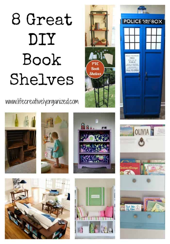 Here are 8 fantastic ideas for book shelves that are unique, fun, and functional!