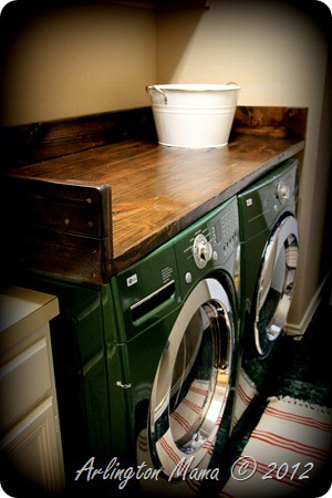 DIY laundry counter