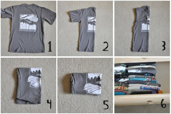 Is vertically folding t-shirts the best way? My experiment may surprise you. My results on vertically folding t-shirts vs. other folding methods.
