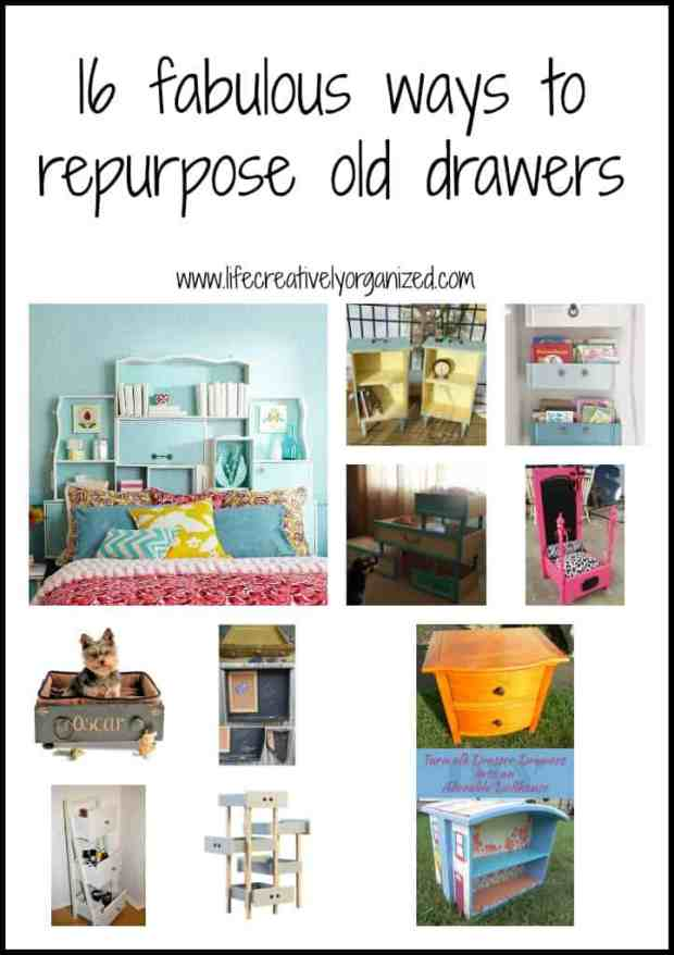 16 fabulous ways to repurpose old dresser drawers.