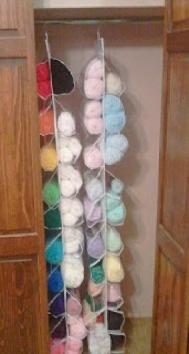 25 ingenious ways to use shoe bags (but not for shoes)! Organize yarn