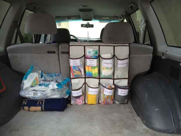 25 ingenious ways to use shoe bags (but not for shoes)! Car organizer and storage
