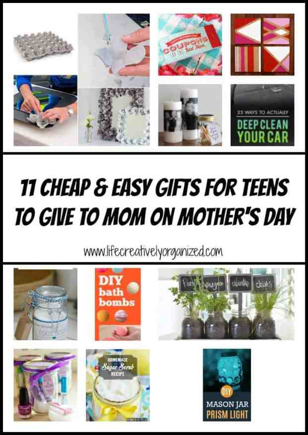 Here are 11 cheap & easy Mother's Day gift ideas for teens to give to mom you can casually pass on to your teen (by text?) & not one is a macaroni frame!