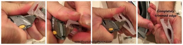 How to create bag clips from plastic hangers. Easy!