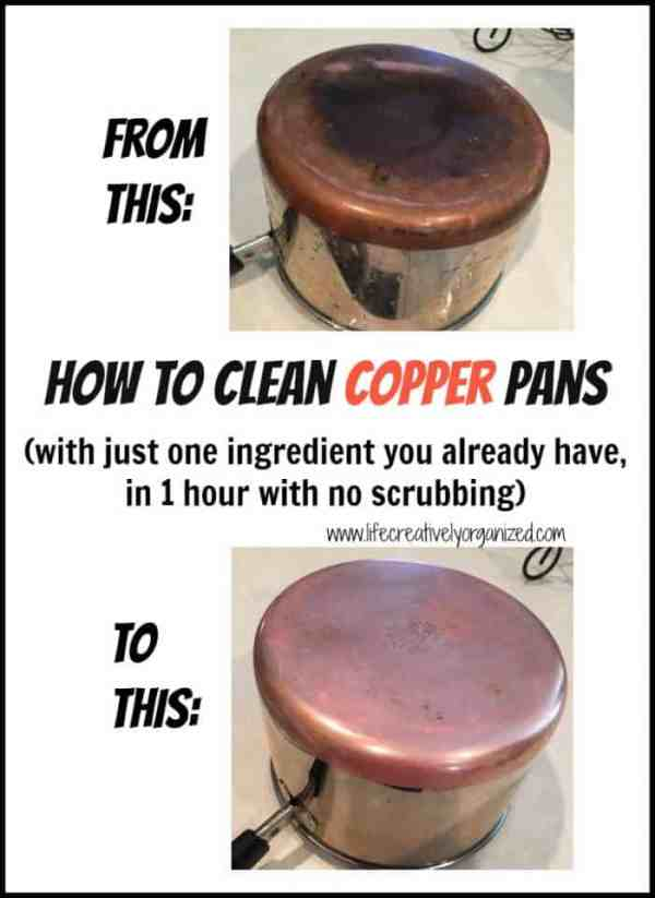 Here are 10 household hacks you need to know! How to clean copper pans with just one ingredient you already have, in 1 hour with no scrubbing!