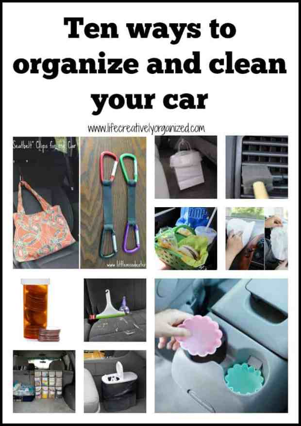 Here are 10 ways to organize and clean your car, whether it is just you or your passengers include the dog, toddlers, teenagers, or all of the above!