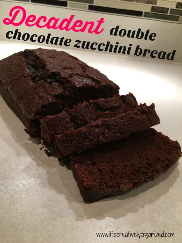 Decadent double chocolate zucchini bread. THIS is the way to eat your veggies!