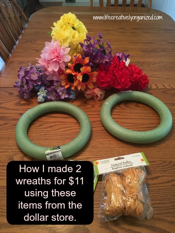 How to make a wreath for $5. Wreath supplies.
