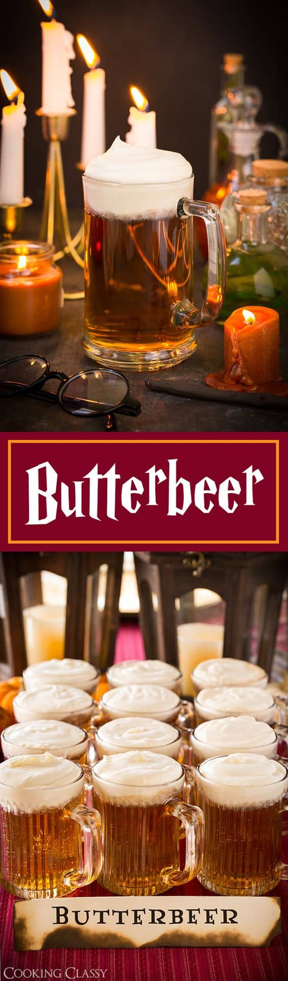 Take me to Hogwarts, Harry Potter! Come with me! Here's the recipe for butterbeer!