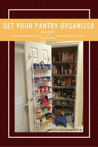 Get your pantry organized and keep it that way