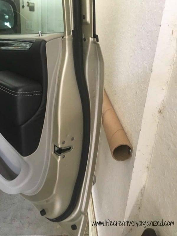 garage door protectorDIY car door garage bumper  LIFE CREATIVELY ORGANIZED