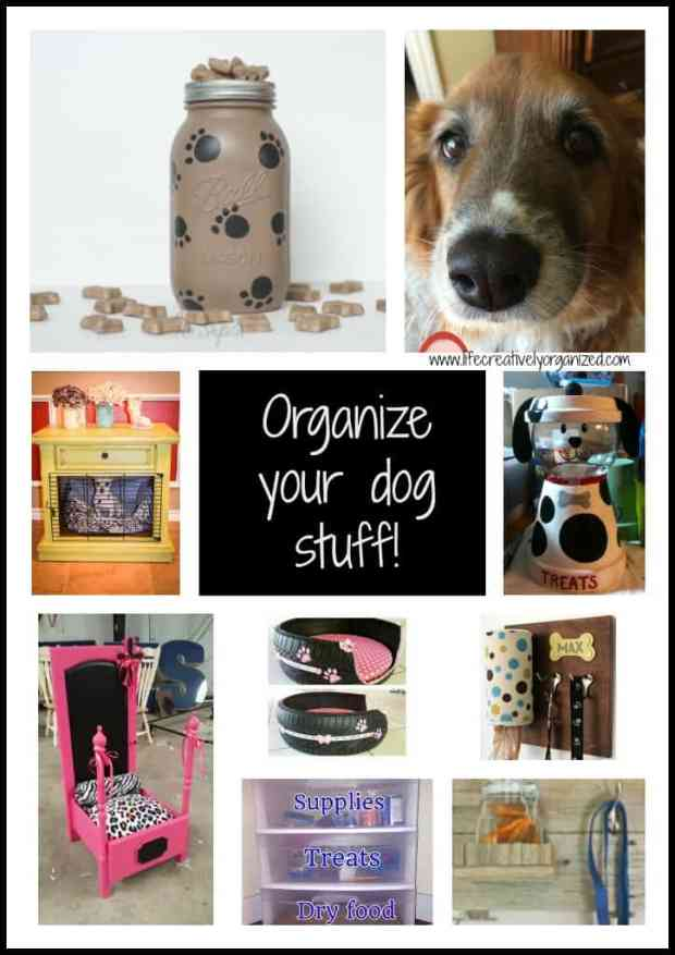 If you have a dog, you probably have a lot of supplies, toys, bedding, and other items for them, too. Here's how to organize your dog stuff.