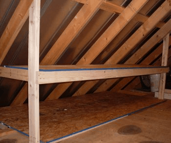 Unfinished Attic Organization Ideas