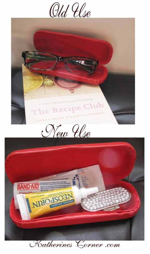Here are some clever eyeglasses craft ideas: a take-along first aid kit.