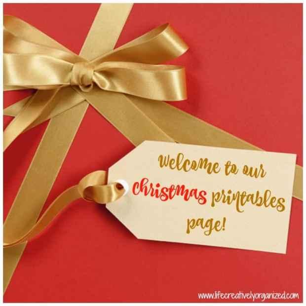 Christmas printables page