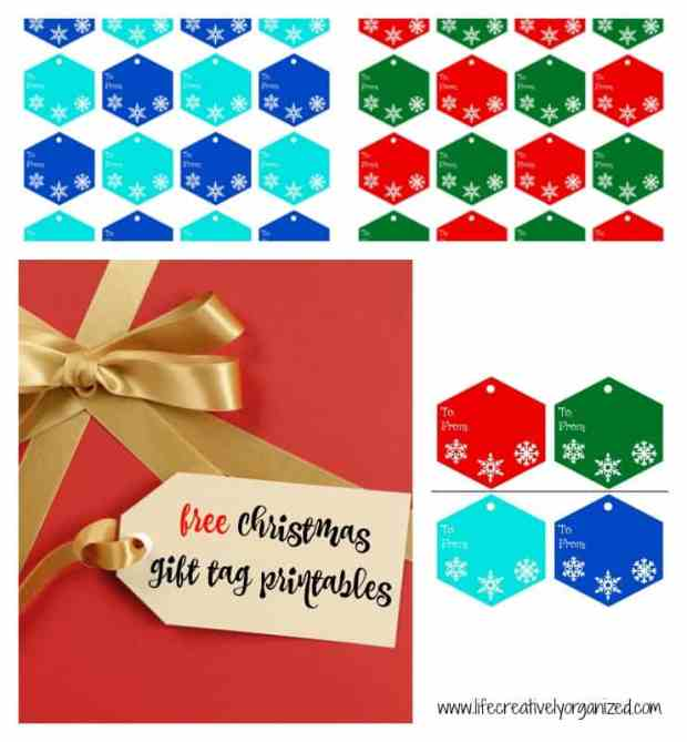 Is your Christmas shopping done yet? Here are some free Christmas gift tag printables for your presents & 25 joyful Christmas ideas for your family to do from www.lifecreativelyorganized.com