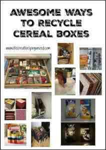 Cardboard boxes are so easy to repurpose into all kinds of useful items, including storage for kitchen and office, even as a lamp or wall art. Really!
