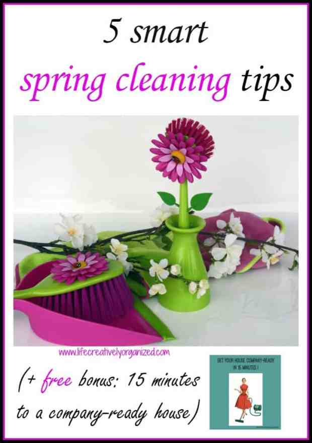 Spring cleaning tips to get your house ready for fresh spring air, new grass, flowers & glorious sunshine! (Bonus: get your house company-ready in 15 min!)