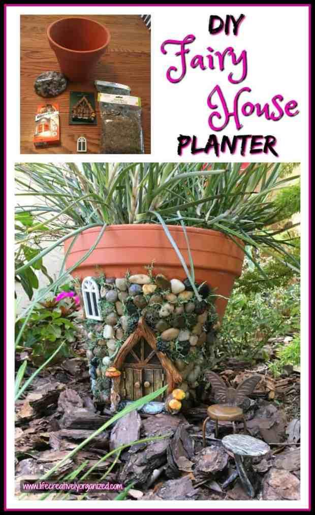 Whimsical diy fairy house planter life creatively organized for Diy fairy house door