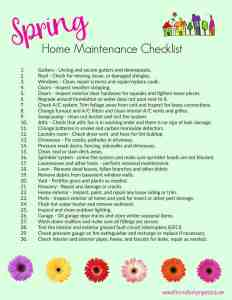 Downloadable Spring Home Maintenance Checklist