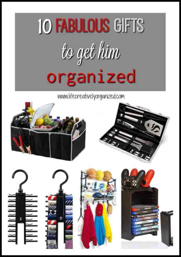 Looking for the perfect gift for the guy in your life? Why not give him some fun and fabulous gifts to get him organized?