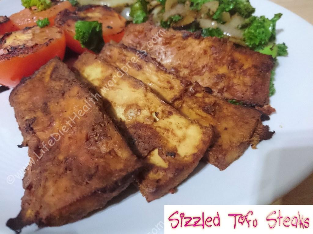 sizzled tofu steak