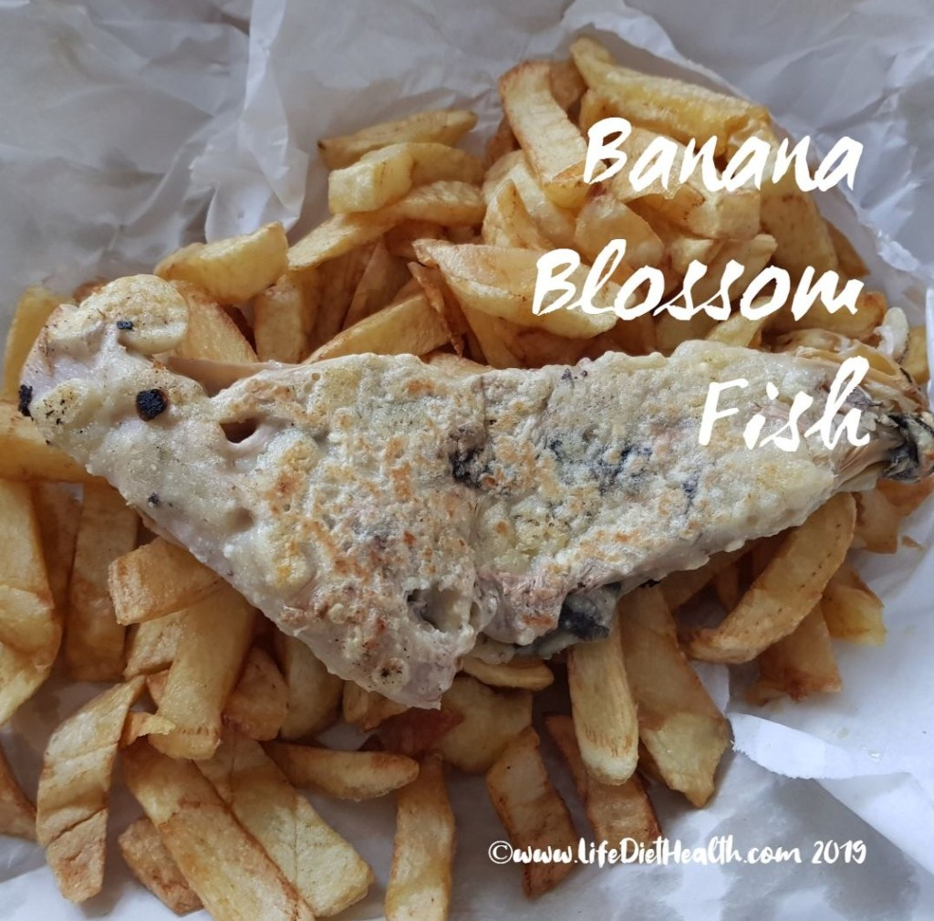 Banan blossom fish and chips