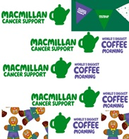 Coffee morning advertising for macmillan