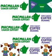 Coffee morning advertising for macmillan