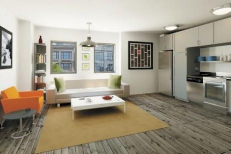 Rendering Of Interior Flats Chicago