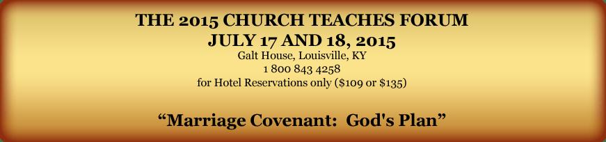 Church Teaches Forum