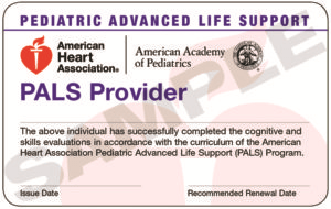 PALS Provider Certification Card