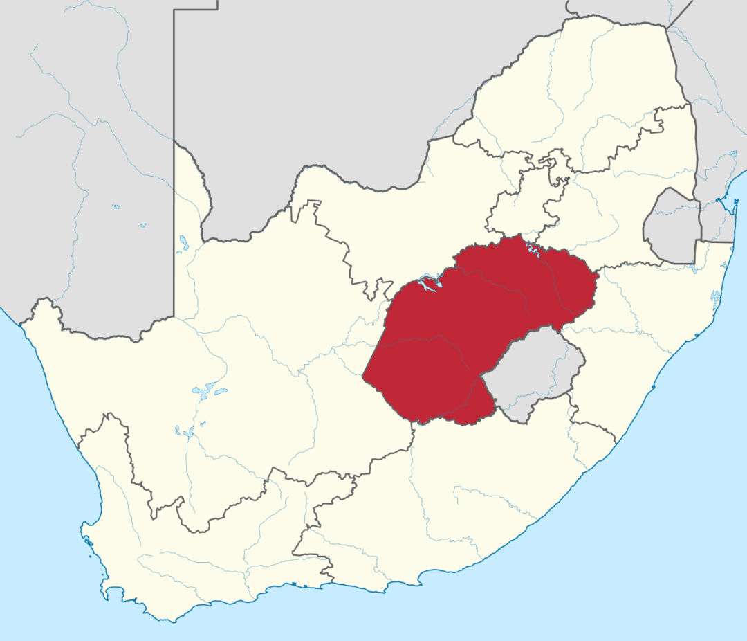 Free State Map, South Africa