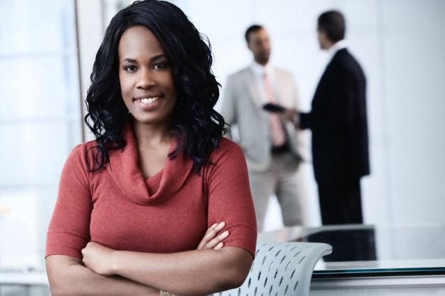 Portrait of business woman --- Image by © Kate Kunz/Corbis