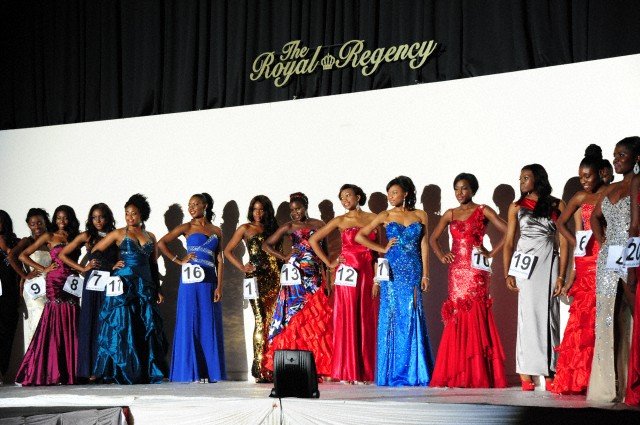 Model walk on the runway. The Miss Black Africa UK Beauty Pageant and Charity Awards 2012 --- Image by © See Li/Demotix/Corbis