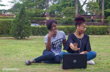 Two young ladies on laptop_@ijeworks