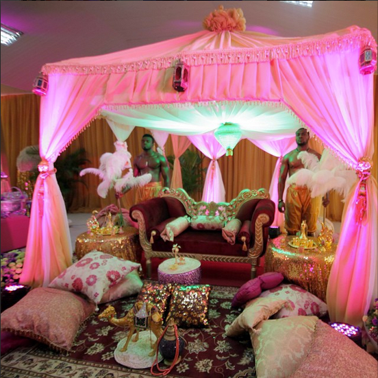Indian-themed Nigerian Wedding
